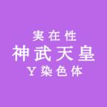 神武天皇の実在性、Y染色体